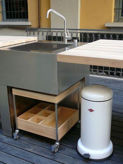 BOFFI open outdoor kitchen by Pierro Lissoni KID!chen - küche mit grill