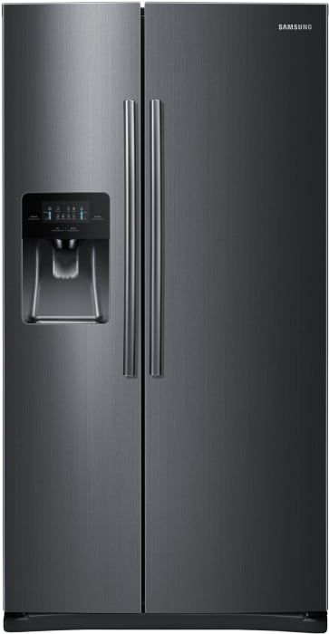 Samsung Rs25h5111sg Rs25h5111sg Front Black Stainless Steel Appliances Glass Shelves Samsung Black Stainless