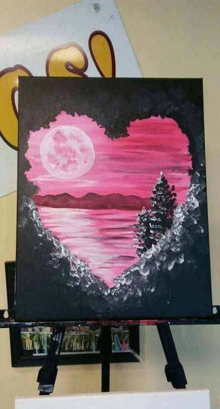 Valentine S Day Cute Canvas Paintings Painting Art Projects Diy