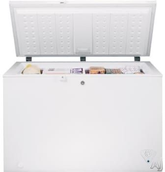 489 Ge Fcm11phww 10 6 Cu Ft Manual Defrost Chest Freezer With 3 Lift Out Sliding Storage Baskets Interior Lighting Chest Freezer Freezer Appliances Storage