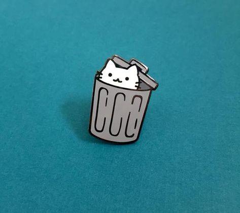 Trash Cat - Hard Enamel Pin