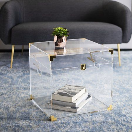 Safavieh Couture Isidra Clear Acrylic Trunk End Table Chest