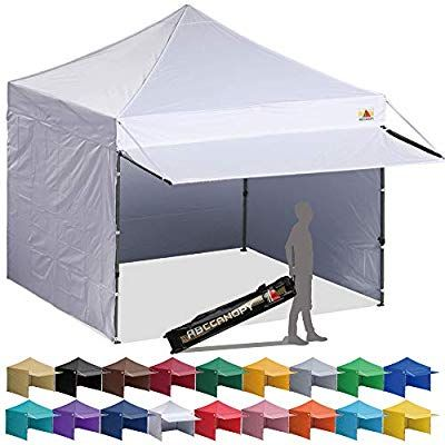 Amazon Com Abccanopy 10x10 Ez Pop Up Canopy Tent Instant Shelter Commercial Portable Market Canopy With 4 Remov Pop Up Canopy Tent Canopy Tent Camping Canopy