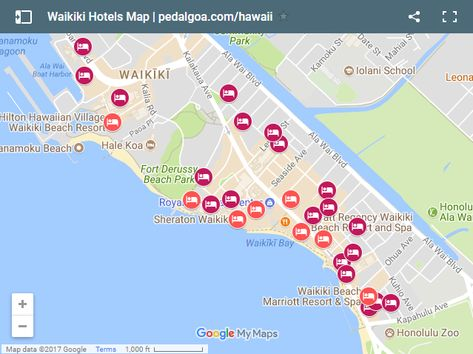Distance Between Waikiki Beach Marriott Resort And Pearl Harbor Google Search Map Of Hotel Pinterest