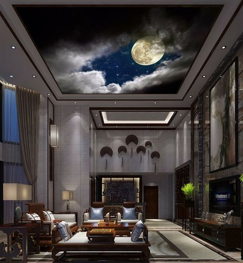 Find many great new & used options and get the best deals for 3D Moonlight Ceiling WallPaper Murals Wall Print Decal AJ WALLPAPER US at the best online prices at eBay! Free shipping for many products!