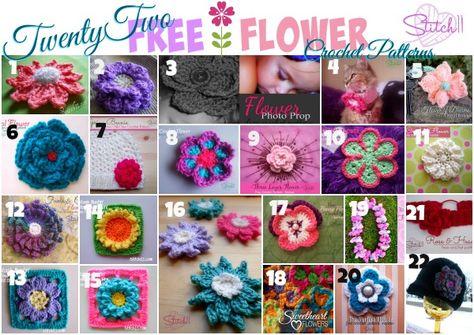 Twenty Two FREE Flower Crochet Patterns