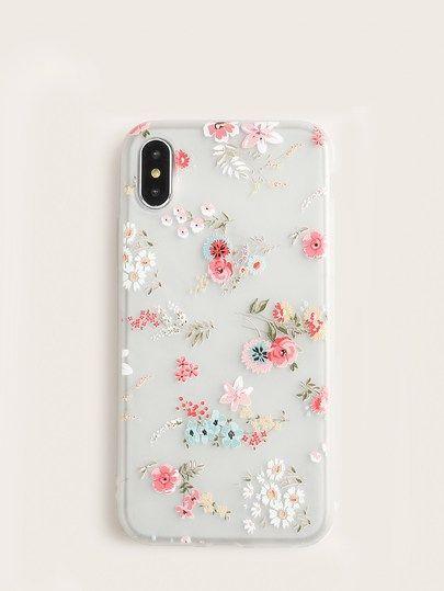 Floral Iphone Case Transparent Iphone 8 Plus Case Transparentiphonecase Iphonecase Cuteshopp Com Floral Iphone Ca Iphone Handyhulle Iphone Iphone7 Case
