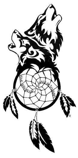 Wolf Dreamcatcher Drawing : dreamcatcher, drawing, Dreamcatcher, Tattoos, Pictures., Tribal, Chest, Females, Designs.…, Tattoo, Design,, Tattoo,