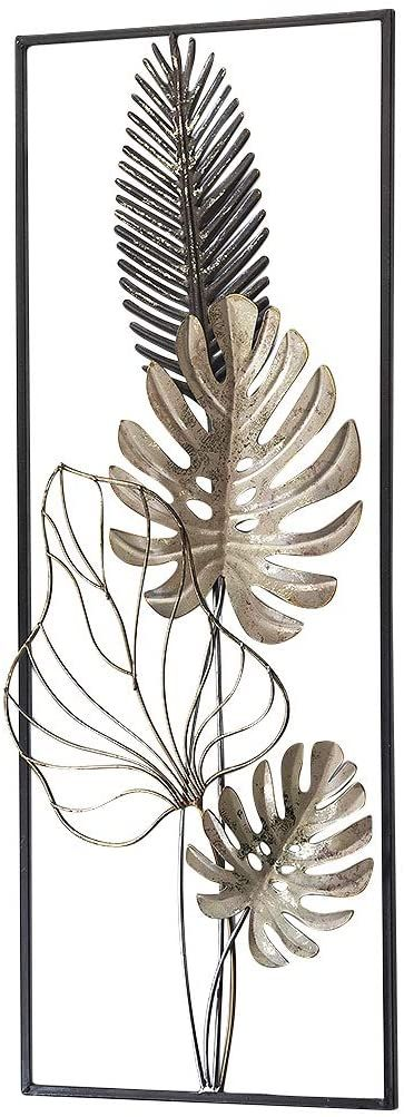 amazon de kobolo wandbild wanddeko metallbild monstera metall 29x74 cm weiss gold in 2021 schone wandbilder bilder hirschkopf deko wand diy wohnzimmer