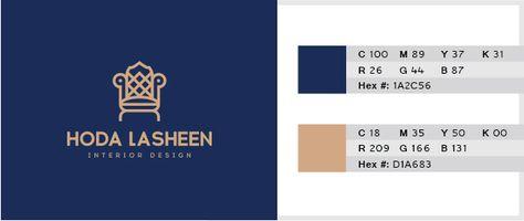 Dark Blue Light Beige Color Combination For Logo Design 01