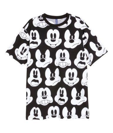 Auschecken verschiedenes Design abholen Gemustertes T-Shirt | Schwarz/Micky Maus | Herren | H&M DE ...