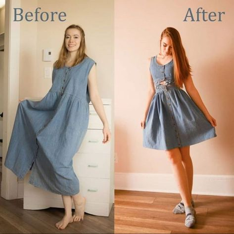 Transform your wardrobe with these clothing refashion ideas. Spring dresses, lightweight jackets, and shoe refashions perfect for Spring weather. Refashion Dress, Diy Dress, Clothes Refashion, Sweater Refashion, Thrift Fashion, Diy Fashion, Fashion Design, Diy Clothing, Sewing Clothes