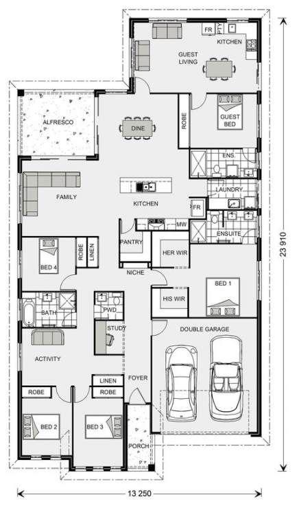 59 Ideas House Plans One Story Don Gardner House Plans One Story Multigenerational House Plans House Plans Australia