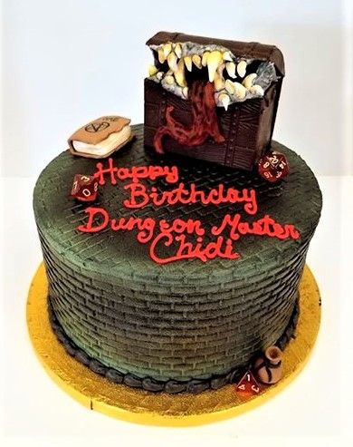 Dungeons And Dragons Themed Cake With Images Dragon Birthday