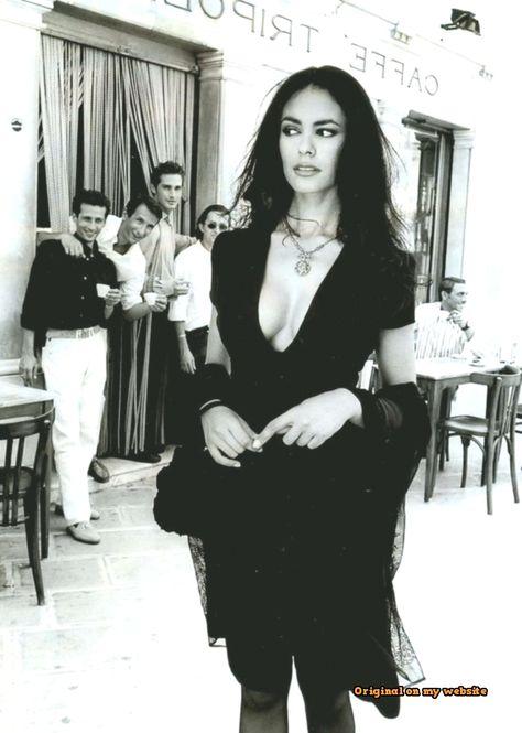 "hauntedbystorytelling: ""Ferdinando Scianna :: Italian actress Maria-Grazia Cucinotta, Puglia Martinafranca, 1995 / for Lavazza calendar / more [+] by this photographer """