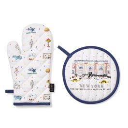Met Sketches Oven Mitt And Pot Holder Set With Images