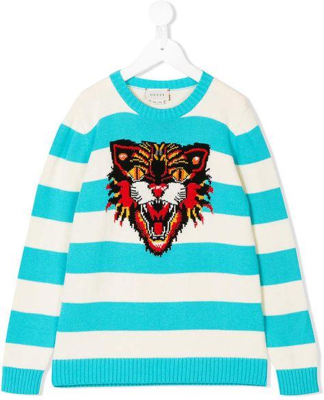 036bb686 Gucci Kids intarsia tiger sweater
