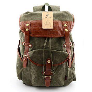 online Shop neue Kollektion wie man wählt Herren Damen Vintage Rucksack Canvas Rucksack Retro ...