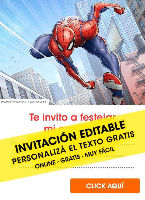 Tarjeta De Cumpleaños De Spiderman En 2020 Cumpleaños