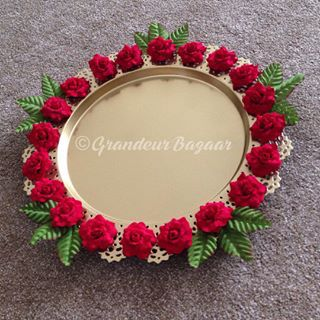 Tray Decoration Pleasing There's A Custom That We Give Unmarried And Married Women Bangles Decorating Inspiration