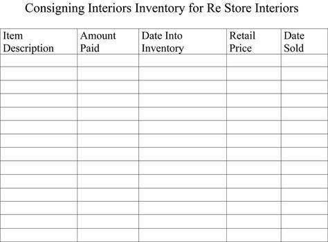 Business Inventory List Template At HttpWwwXltemplatesOrg