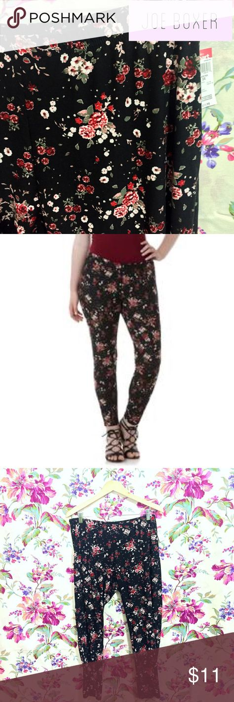 😍 NWT AMAZING super soft floral leggings 😍 These leggings are amazing! I wear leggings about 4 days/week so I know how hard it is to find amazing leggings when you're plus size 😊 I got 2 pairs of these and I fit the 2x, so I have this lovely size 3x pair up for sale 👍 Please let me know if you have any questions! 15% bundle discount on 2+ items and I'm open to reasonable offers.  Thanks so much! 💕✨ Joe Boxer Pants Leggings