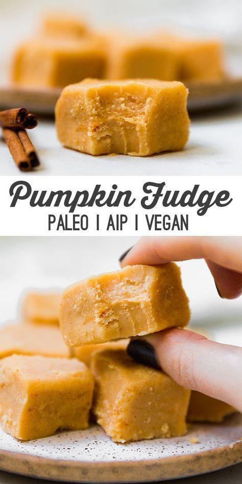Paleo Pumpkin Fudge Aip Vegan