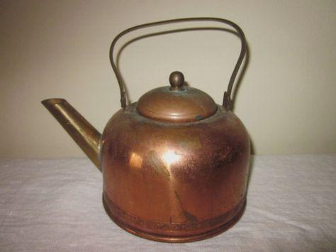 Vintage Copper Tea Kettle Coppercraft Guild by