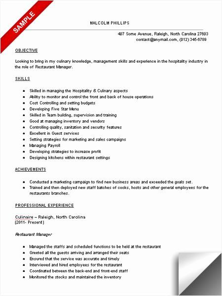 Restaurant Manager Resume Examples Beautiful Restaurant Manager Resume Sample Limeresumes In 2020 Restaurant Management Manager Resume Restaurant Resume