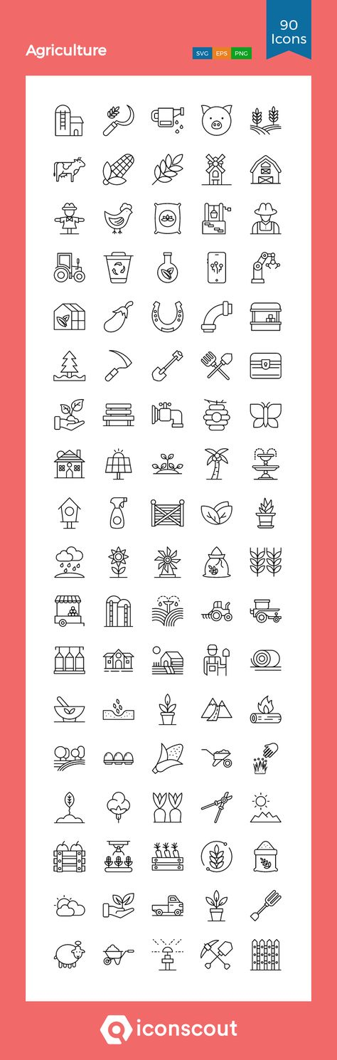 Download Agriculture Icon pack - Available in SVG, PNG, EPS, AI & Icon fonts