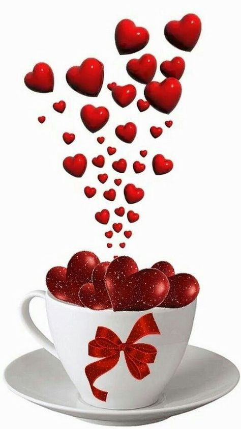 99846923 Cup of love | Coffee Lovers | Good morning love, Good morning gif, Valentines flowers