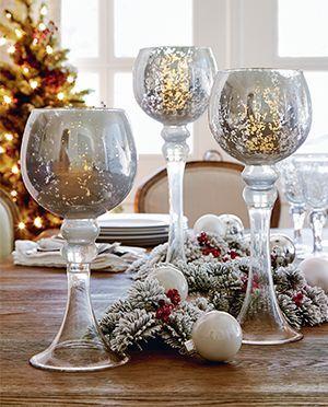 Candle Holder Globes Holiday Christmas Decor
