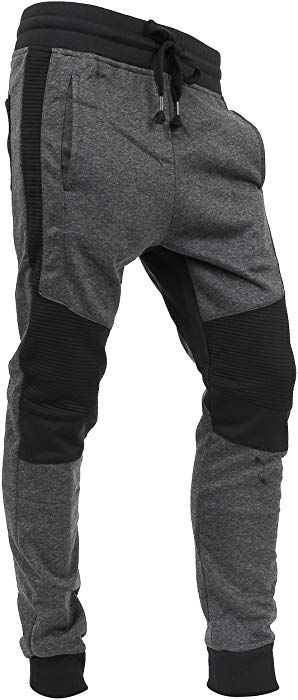 Hat And Beyond Casual Fleece Jogger Pants Active Elastic Urban Biker Slim Fit Vw500 Small Vw5015 At Amazo Mens Jogger Pants Jogger Pants Casual Mens Joggers