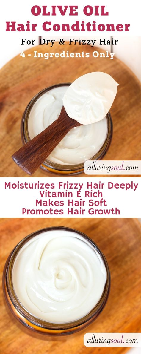 DIY Olive Oil Hair Conditioner Cream is the best way to control frizzy and dry hair. It is made with highly effective ingredients like shea butter and rosemary oil which makes hair soft and manageable and also boots hair growth. Do checkout for the f Olives, Homemade Conditioner, Natural Hair Conditioner, Shea Butter Conditioner Recipe, How To Make Conditioner, Coconut Oil Conditioner, Homemade Shampoo, Hair Removal Cream, Moisturize Hair