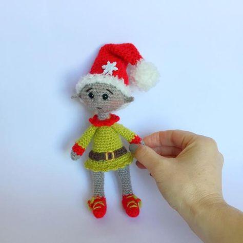 Crochet Christmas Elf - amigurumi pattern | 474x474
