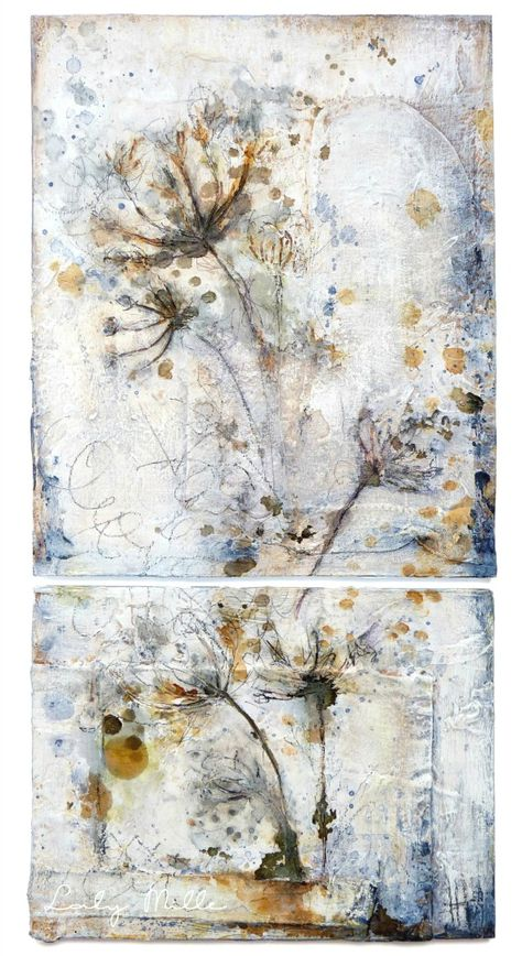 Inflorescence — Laly Mille Mixed Media Art