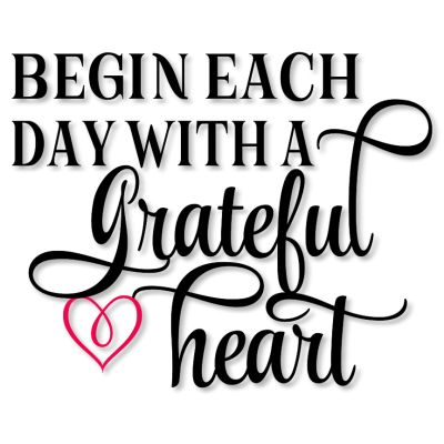 View Start Each Day With A Grateful Heart Cutting File SVG