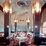 """Chrysler Building-The Cloud-Club-Interior-NYC ~ The Cloud Club """"the inspiration for many of the others."""" It was initially designed for Texaco, which occupied 14 floors of the Chrysler Building, and used as a restaurant for executives. The club closed in t"""