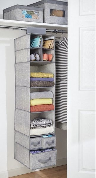 Pin By Nuhaa Bardien On Home Hanging Closet Storage Hanging Closet Organizer Storage Closet Organization