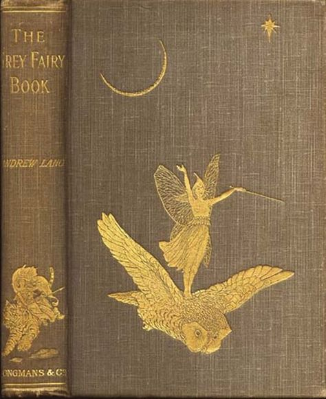 'The Grey Fairy Book', by Andrew Lang Illustrations and cover by Henry Justice Ford. Book Cover Art, Book Cover Design, Book Design, Book Art, Vintage Book Covers, Vintage Books, Vintage Library, Old Books, Antique Books