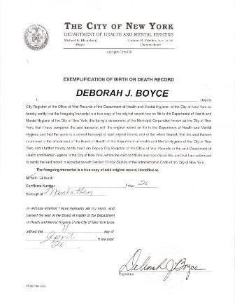 This is a long form birth certificate signed by former City - free divorce decree forms