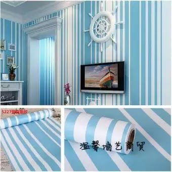 Cat Kamar Garis Garis