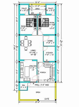 25 X 25 House Plans New Architectural House Plans Ground Floor Plan 25 6 X 58 9 Architectural House Plans Metal Building House Plans House Floor Plans