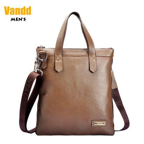 Aliexpress.com : Buy Vandd Men's Classic Slim Vertical Slim Genuine Leather Brown Tote Handbag Shoulder Messegner Bag Designer Style New from Reliable eyebrow piercing shop suppliers on Vandd Men. $92.00