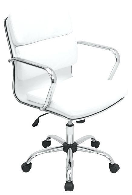 White Modern Office Chair White Rolling Homegram White Desk And