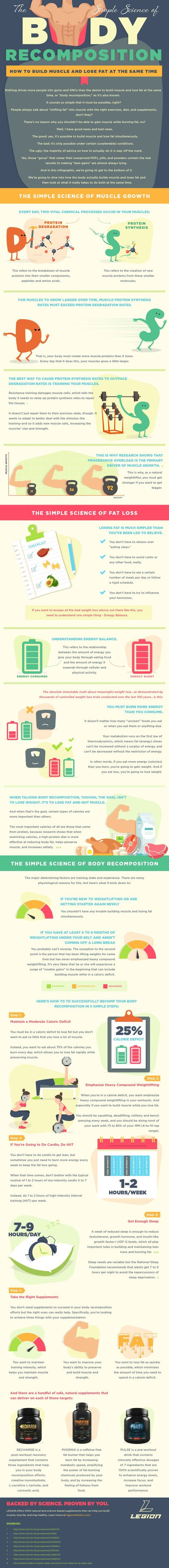 [Infographic] The Secret to Body Recomposition: Lose Fat & Gain Muscle - Legion Athletics
