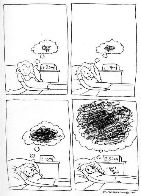 Deine Gedanken lassen Dich nicht los. | 18 Comics, die Dir zeigen, wie sich Depressionen anfühlen                                                                                                                                                                                 Mehr