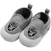 Oakland Raiders Infant Pre-Walk Booties - Ash
