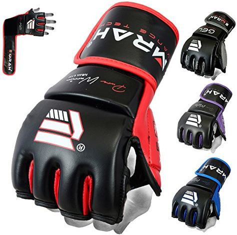 EMRAH Charged V-2 Boxing Gloves Muay Thai Training Sparring Punching Bag Mitts kickboxing Fighting