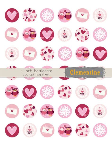 Valentine Bottle Cap Images Bottlecap Images By Clementinedigitals